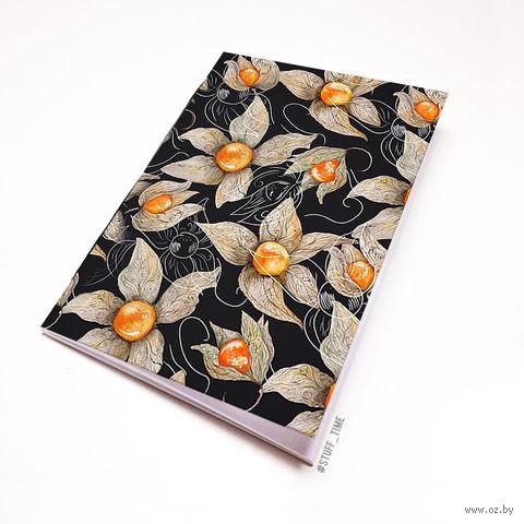"""Блокнот белый """"Цветы"""" А5 (арт. 950)"""