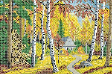 """Вышивка бисером """"Осенний пейзаж"""" (180х270 мм) — фото, картинка"""