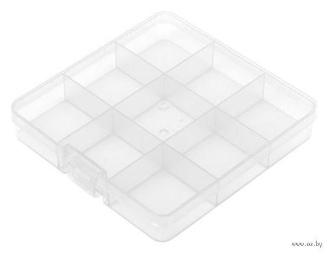 Органайзер для рукоделия (прозрачный; 5-9 отделений) — фото, картинка