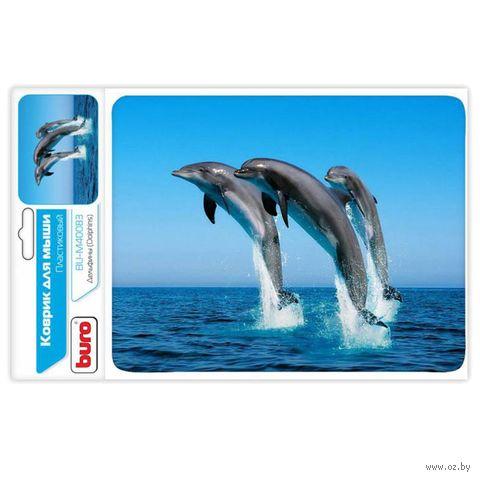 Коврик для мыши Buro BU-M40083 (рисунок/дельфины) — фото, картинка