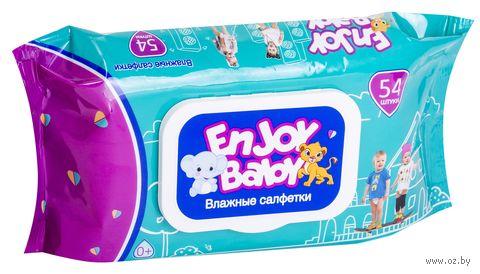 """Влажные салфетки детские """"Enjoy Baby"""" (54 шт.) — фото, картинка"""