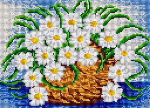 """Алмазная вышивка-мозаика """"Нежность ромашек"""" (360х260 мм) — фото, картинка"""