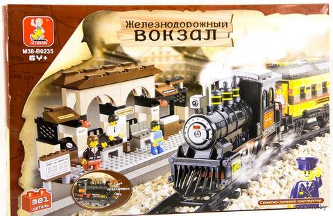 """Конструктор """"Железнодорожный вокзал. Средний набор"""" (301 деталь) — фото, картинка"""