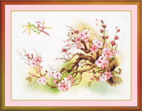 "Набор для вышивания ""Ветка сакуры"" (арт. 0029 РТ)"