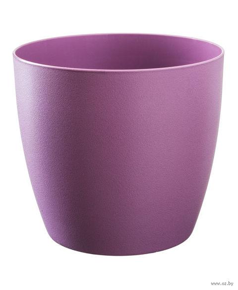 """Цветочный горшок """"Ага"""" (16 см; фиолетовый матовый) — фото, картинка"""