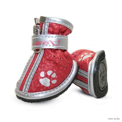 """Ботинки с """"лапками"""" (4,5х3,5х4,5 см; красные) — фото, картинка"""