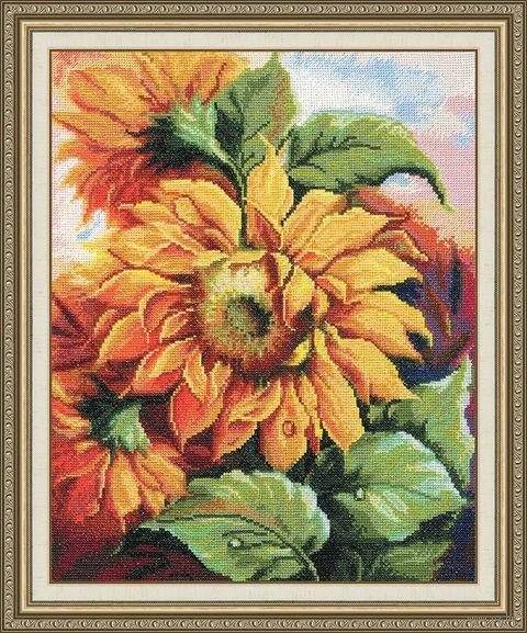 "Вышивка крестом ""Цветы солнца"" (314х252 мм; арт. Т-011) — фото, картинка"