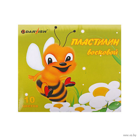 """Пластилин восковой """"Darvish"""" (10 цветов)"""