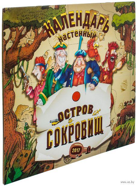 Календарь настенный на 2017 год. Остров сокровищ. Ольга Епифанова