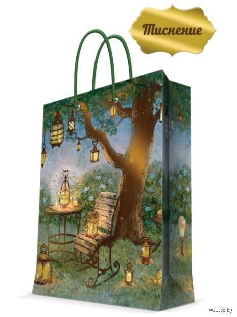 """Пакет бумажный подарочный """"Волшебные фонари"""" (17,8х22,9х9,8 см; арт. 43509) — фото, картинка"""