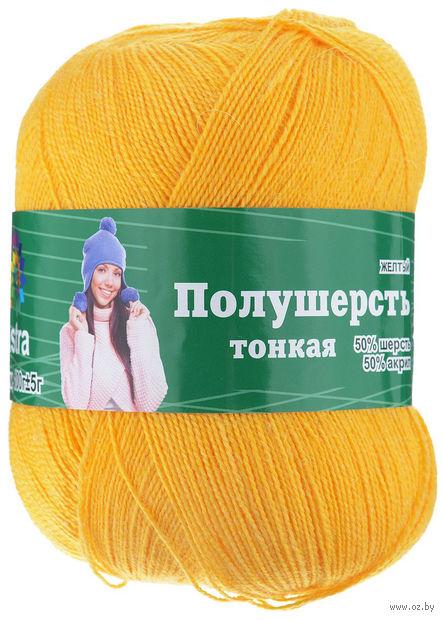 "Пряжа ""Астра. MIX Wool XS"" (желтая; 100 г; 600 м) — фото, картинка"