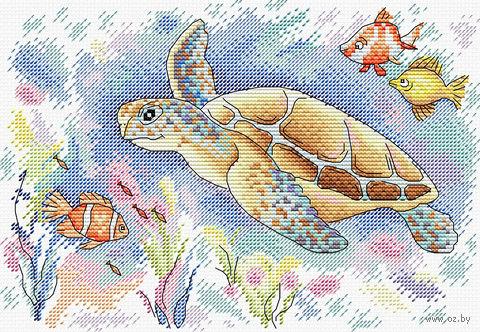 "Вышивка крестом ""Краски океана"" (160х230 мм) — фото, картинка"