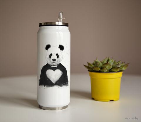 """Банка """"Панда с сердцем"""" (350 мл) — фото, картинка"""