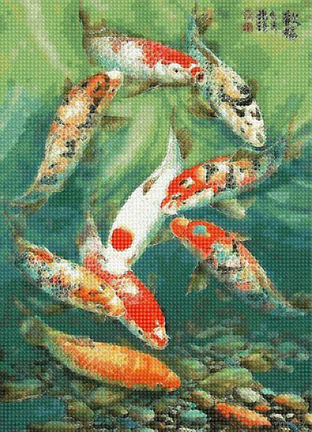 "Алмазная вышивка-мозаика ""Рыбки"" (360х260 мм) — фото, картинка"