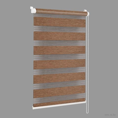 """Штора рулонная """"Сантайм. Бамбук"""" (34х160 см; мокка) — фото, картинка"""