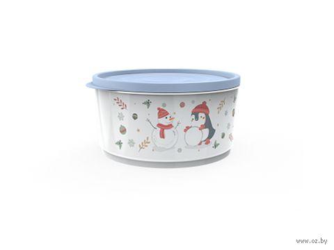 """Контейнер для хранения продуктов """"Christmas"""" (2,4 л; васильковый) — фото, картинка"""