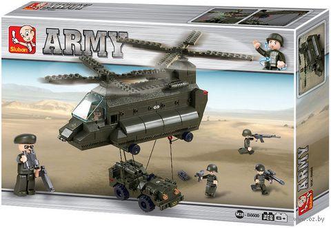 """Конструктор """"Сухопутные войска. Транспортный вертолет и джип"""" (370 деталей) — фото, картинка"""