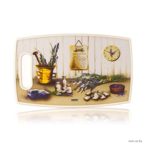 Доска разделочная пластмассовая (360х220х10 мм; арт. 12FHH20016) — фото, картинка