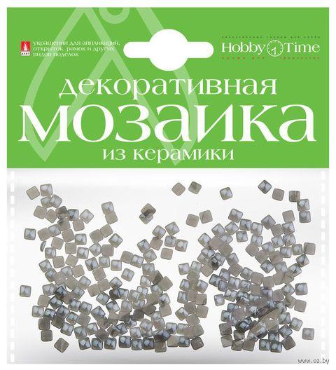 Мозаика декоративная из керамики №12 (4х4 мм; 200 шт.; серый) — фото, картинка