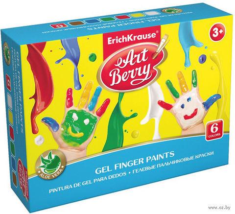 """Краски пальчиковые """"Artberry"""" с алоэ вера (6 цветов; 100 мл) — фото, картинка"""