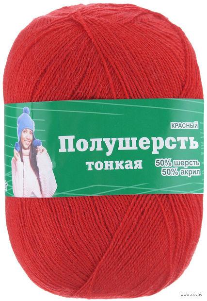 """Пряжа """"Астра. MIX Wool XS"""" (красная; 100 г; 600 м) — фото, картинка"""