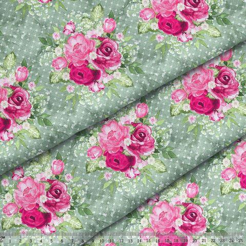 "Ткань ""Великолепный розарий"" (48х50 см; арт. AM656014) — фото, картинка"