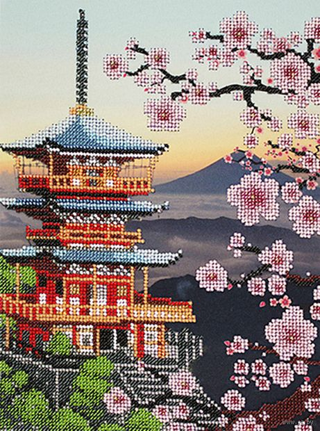 "Вышивка бисером ""Япония"" (200х270 мм) — фото, картинка"