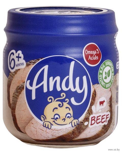 """Детское пюре Andy """"Говядина"""" (80 г) — фото, картинка"""