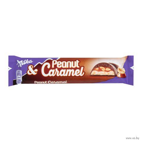 "Шоколад молочный ""Milka. Peanut Caramel"" (37 г) — фото, картинка"