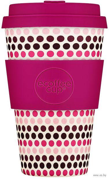 """Эко-стакан """"Розовый горошек"""" — фото, картинка"""