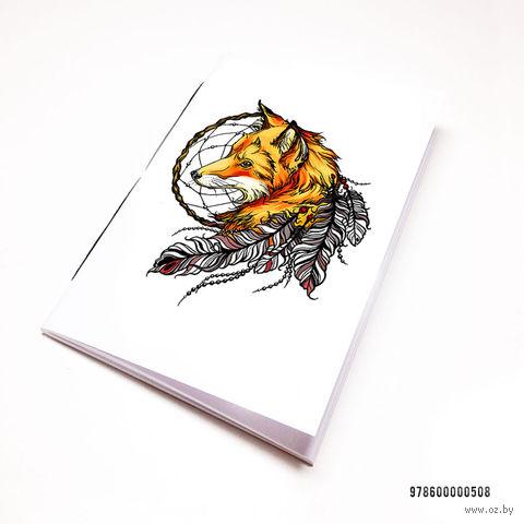 """Блокнот """"Лиса с ловцом снов"""" (А7; арт. 508) — фото, картинка"""