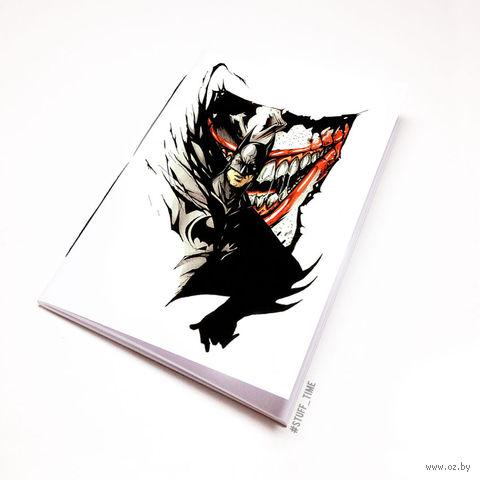 "Блокнот белый ""Бетмен и Джокер"" А6 (046)"