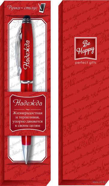 """Ручка шариковая со стилусом """"Надежда"""" — фото, картинка"""