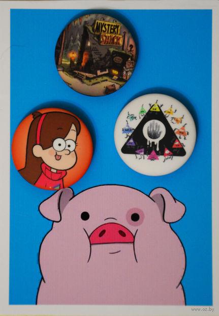 "Набор значков маленьких ""Гравити Фолз"" (арт. 550) — фото, картинка"