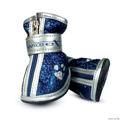 """Ботинки с """"лапками"""" (5,5х4,5х5,5 см; синие) — фото, картинка"""