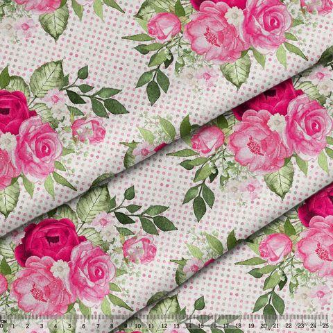 "Ткань ""Великолепный розарий"" (48х50 см; арт. AM656015) — фото, картинка"