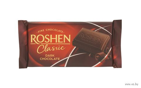 "Шоколад тёмный ""Roshen. Classic"" (90 г) — фото, картинка"