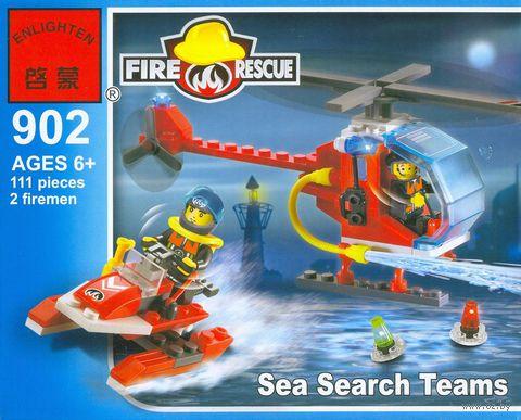 """Конструктор """"Fire Rescue. Пожарные вертолет и лодка"""" (111 деталей)"""