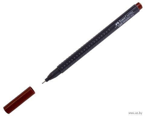 """Ручка капиллярная """"Grip Finepen"""" (0,4 мм; коричневая) — фото, картинка"""
