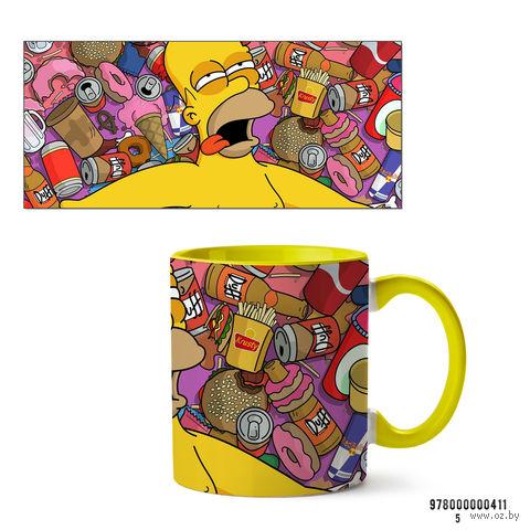 """Кружка """"Симпсоны"""" (арт. 411, желтая)"""