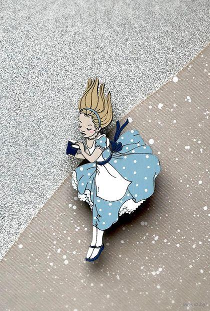 "Брошь ""Алиса в стране чудес"" (арт. 70-2) — фото, картинка"