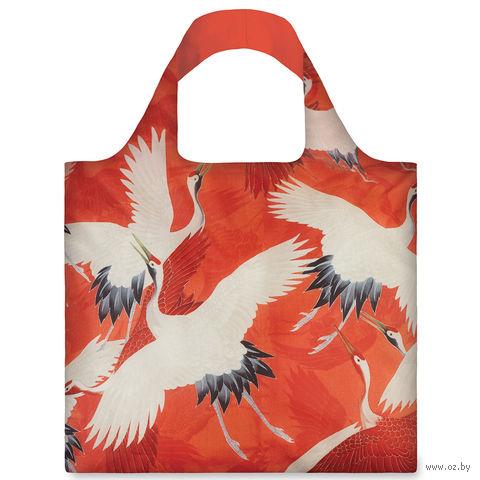 """Сумка складная """"White and Red Cranes"""""""