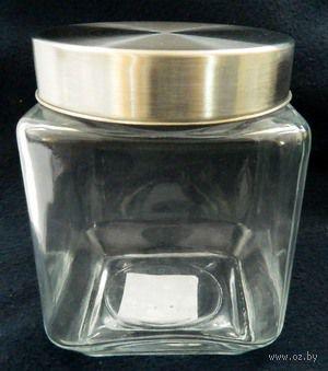 Банка для сыпучих продуктов стеклянная (1250 мл; 11,4х11,4х15 см)