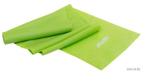 Эспандер ленточный для йоги ES-201 (1200х150х0,35 мм; зелёный) — фото, картинка