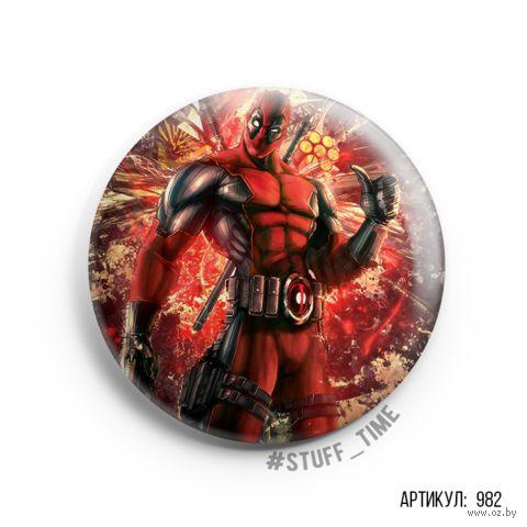 "Значок ""Deadpool"" (арт. 982) — фото, картинка"