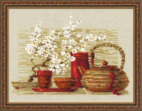 """Вышивка крестом """"Чай"""" (300х240 мм) — фото, картинка"""