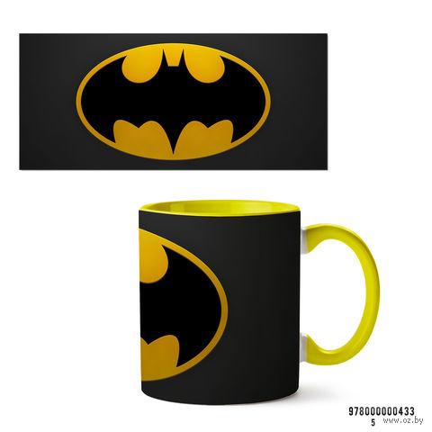 """Кружка """"Бэтмен из вселенной DC"""" (арт. 433, желтая)"""