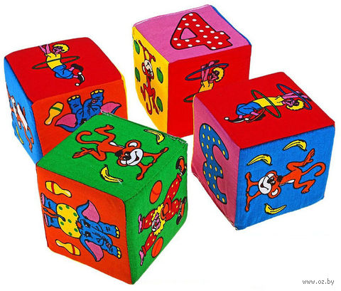 "Кубики ""Веселый счет"" (4 шт.) — фото, картинка"