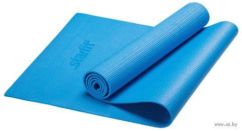 """Коврик для йоги """"FM-101"""" (173x61x0,8 см; синий) — фото, картинка"""