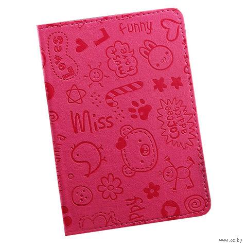 """Обложка для паспорта """"Happy Friends"""" (розовая) — фото, картинка"""